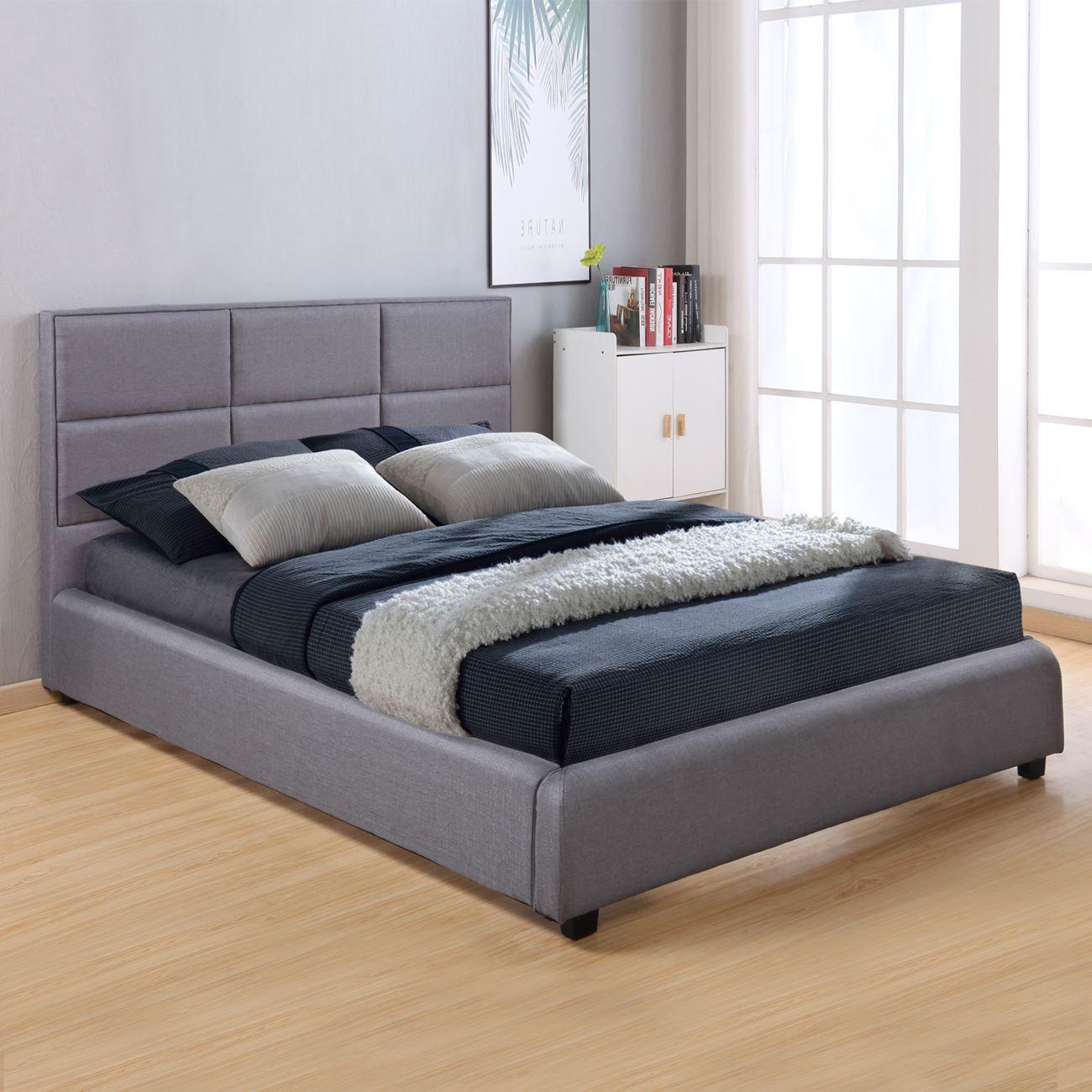 bfce25349f48 Κρεβάτι Υφασμάτινο Σκούρο Γκρι 150X200 - STAY AT HOME